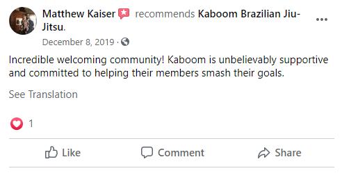 Capture, Kaboom Brazilian Jiu-Jitsu